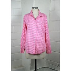 J.crew the perfect shirt mini gingham button up